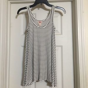 Black/White striped tank top